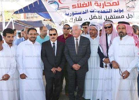 محافظ جنوب سيناء يتفقد لجان الاستفتاء بشرم الشيخ