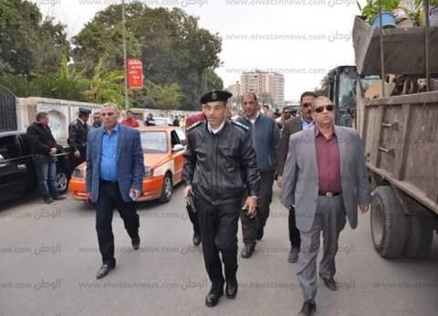 """محافظ الإسماعيلية ومدير الأمن يشهدان انطلاق حملة """"أسبوع الانضباط"""""""