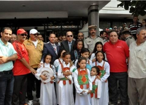 """""""الشباب والرياضة"""" في القليوبية تنظم مسيرة بمناسبةذكرى انتصار أكتوبر"""