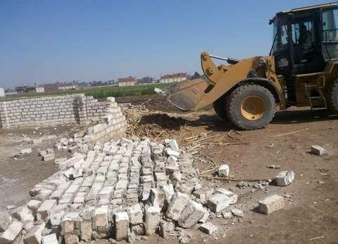 إزالة 31 حالة تعد على الأراضي الزراعية في أسيوط