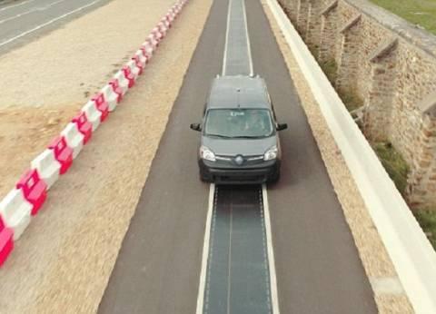 """بالصور  أغرب طريق في العالم..""""يشحن السيارات الكهربائية"""""""