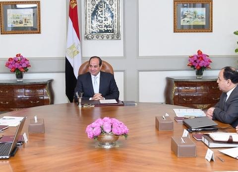 السيسي يجتمع مع مصطفى مدبولي بحضور وزيري المالية والصحة