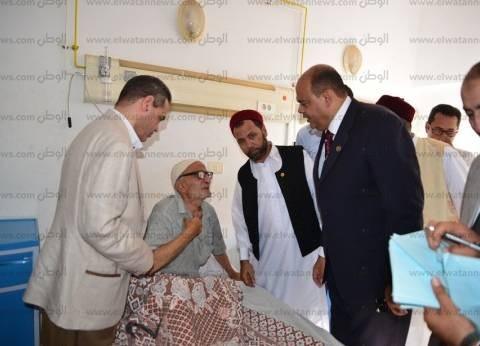 محافظ مطروح يهنئ مرضى المستشفى العام بعيد الفطر