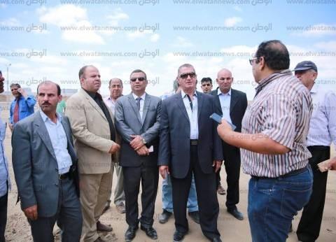 بالصور|محافظ كفر الشيخ يتفقد المرحلة الرابعة من أرض الجونة ببرج البرلس