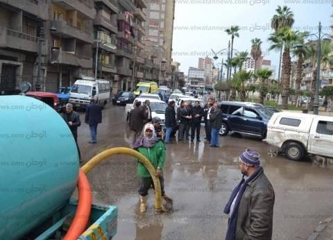 بالصور| محافظ الغربية يتفقد حالة شفط مياه الأمطار بالشوارع