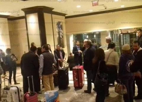 بالصور| وصول الوفد الشعبي إلى نيويورك لدعم الرئيس السيسي