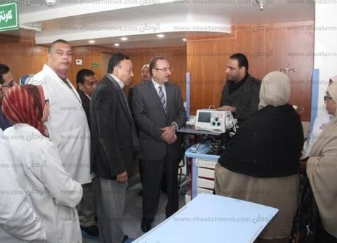 بالصور| محافظ بني سويف يتفقد أعمال تطوير المستشفى العام ويناقش خطة تشغيله