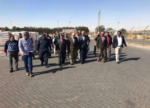 قيادات مصلحة الضرائب بوزارة الداخلية يتفقدون ميناء السخنة