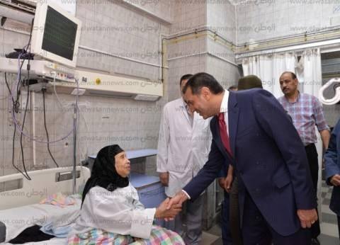 بالصور| محافظ أسيوط يتفقد مستشفيات الشرطة والإيمان والصدر