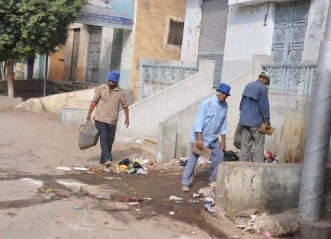 حملة نظافة موسعة بقرى مركز الزرقا خلال أيام عيد الأضحى