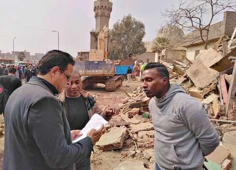 بالصور| نائب محافظ القاهرة يتابع إزالة 23 عقارا بمنطقة «المدابغ»