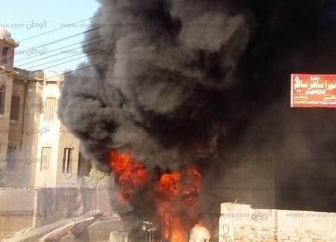 السيطرة على حريق بجوار جامعة الأزهر بأسيوط
