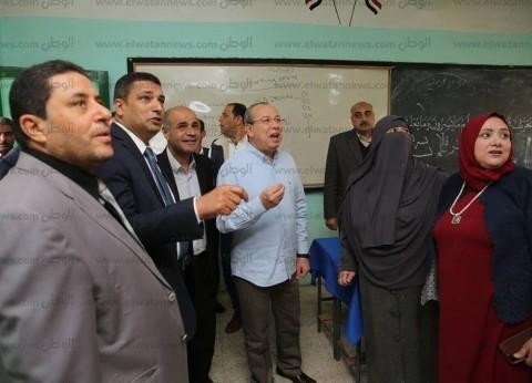 بالصور| محافظ كفرالشيخ يتفقد مدرستين استعدادا للاستفتاء