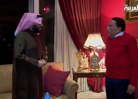 تركي آل الشيخ يزور عادل إمام في منزله للاتفاق على عمل فني
