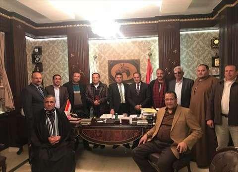 بالصور| جلسة صلح بالبدرشين بين نائبي الحوامدية بعد خلافات دامت 14 شهرا
