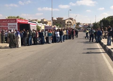 """إقبال كثيف في اليوم الثاني للاستفتاء بـ""""سيزا نبرواي"""" بالقاهرة الجديدة"""