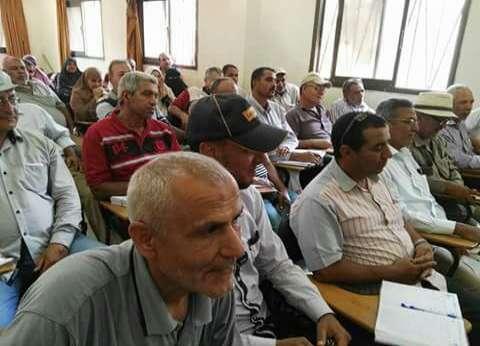 """وكيل """"زراعة دمياط"""" يشارك في الاجتماع الأسبوعي بإدارة كفر سعد"""