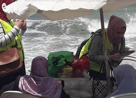 """صور.. """"أنت أقوى من المخدرات"""" تبدأ أولى فعالياتها على شواطئ الإسكندرية"""