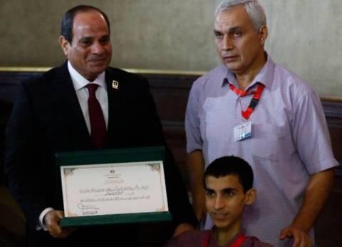 الشاب محمد عمر: حصلت على 98% بالثانوية وتفوقت بكلية الحقوق