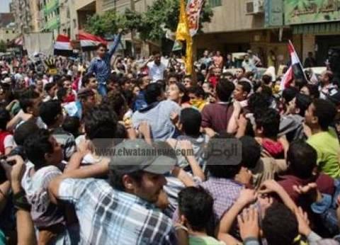 مسيرة شعبية لأهالي المحلة للتنديد بحادث الروضة وتأييد ردع الإرهابيين