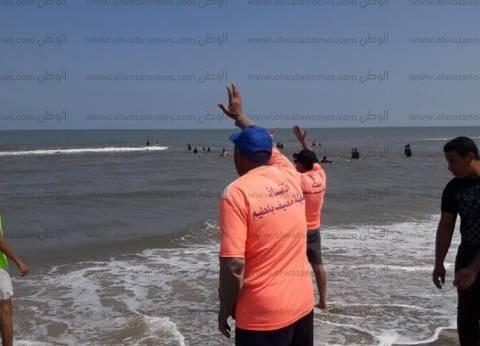 بالصور| انتشار 120 منقذًا لتأمين شواطئ مصيف بلطيم خلال شم النسيم