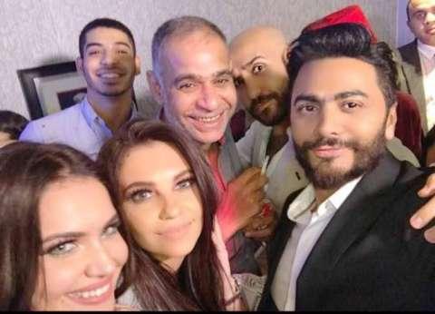 """إقبال جماهيري على فيلم """" تصبح على خير"""".. وتامر حسني يفاجئ الجمهور"""