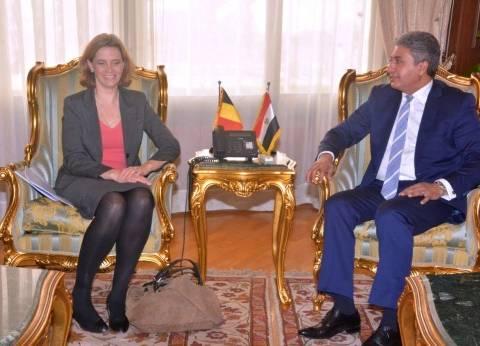 وزير الطيران يناقش مع سفيرة بلجيكا اتفاقية النقل الجوي بين البلدين