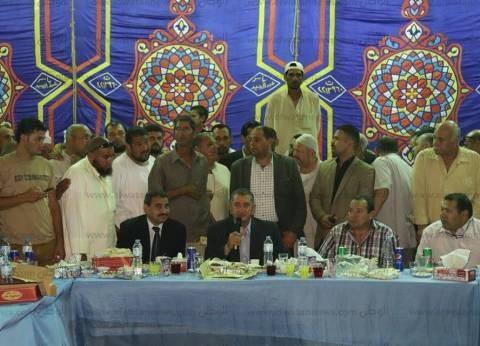 بالصور| محافظ كفرالشيخ يشارك في حفل الإفطار الجماعي بقرى بر بحري