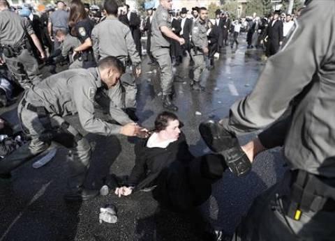 """يهود متشددون يتظاهرون ضد التجنيد الإجباري: """"لن ننضم للجيش الصهيوني"""""""