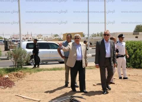 خالد فوده يتفقد مشروع تنفيذ فرع الهيئة العامة للاستثمار بشرم الشيخ