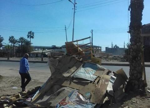 إزالة 3 أكشاك مخالفة في حملة لإزالة الإشغالات بمدينة نصر