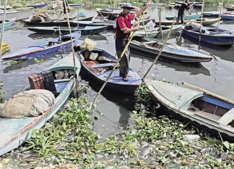 غرق مركب صيد ببوغاز دمياط بسبب سوء الأحوال الجوية