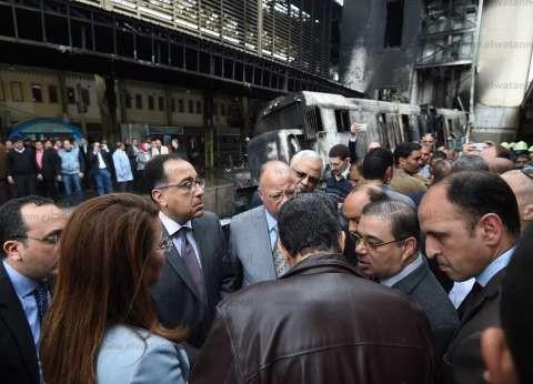 رئيس الوزراء يتفقد حالة مصابي حادث القطار مساء اليوم
