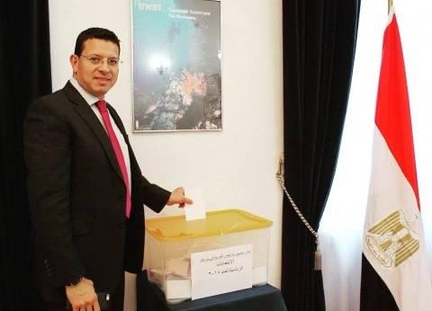 بالصور| مشاهير لم تمنعهم الغربة من المشاركة في الانتخابات الرئاسية