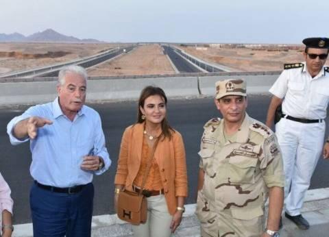 وزيرة الاستثمار ومحافظ جنوب سيناء يزوران محطة شمسية وسوق شرم الشيخ