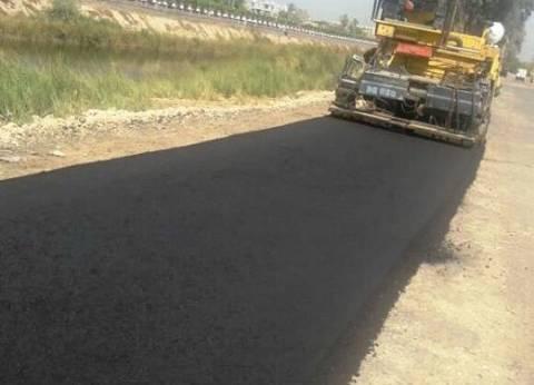 رصف طريق عزبة رضوان بتكلفة 600 ألف جنيه بسوهاج