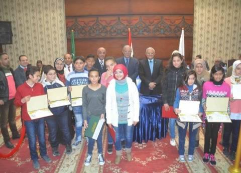 تكريم المتميزين واوائل مدارس القرآن الكريم في المنيا