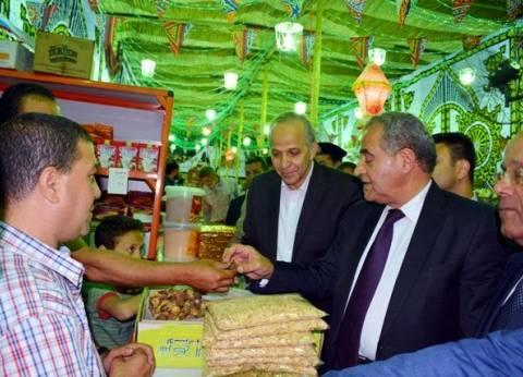 """وزير التموين ومحافظ القليوبية يفتتحان معرض """"أهلا رمضان"""" بشبرا الخيمة"""