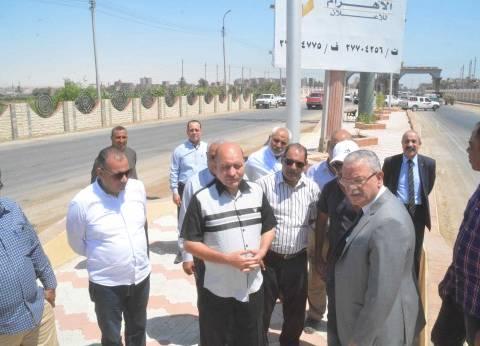 محافظ المنيا يفتتح المدخل الشمالي للمدينة