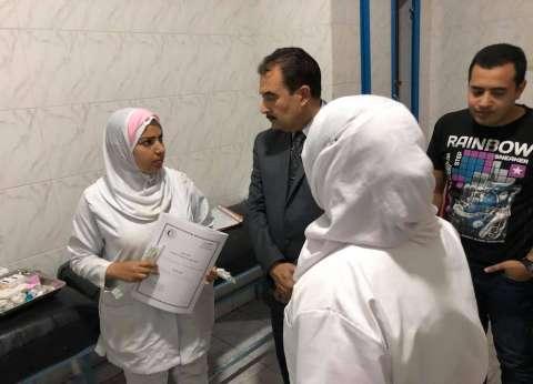 """وكيل """"صحة السويس"""" يتفقد المستشفى العام والصدر تزامنا مع رفع الطوارئ"""