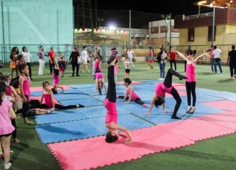 نادي المنيا الرياضي ينظم مهرجانا للجمباز