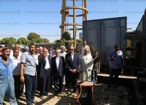 محافظ قنا يتفقد الأعمال الإنشائية لمحطة مياه أبو دياب