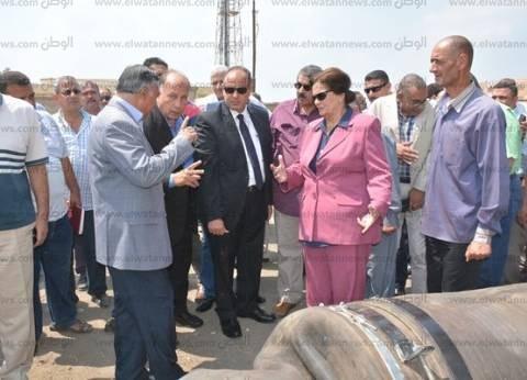 """محافظ البحيرة يشهد تجربة مواجهة زيادة منسوب مياه محطة """"الخيري"""" بدمنهور"""