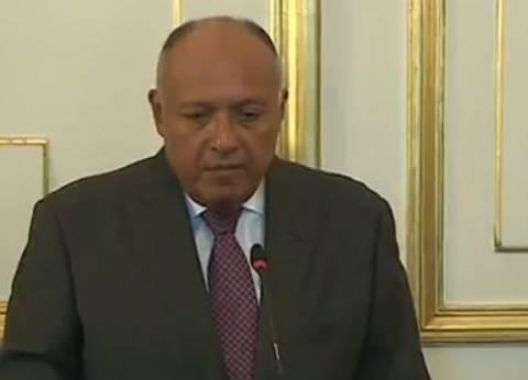 سامح شكري يتلقى التعازي من وزير خارجية السودان