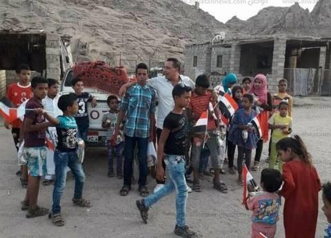 توزيع كراتين مواد غذائية بالمناطق الأكثر احتياجا بجنوب سيناء
