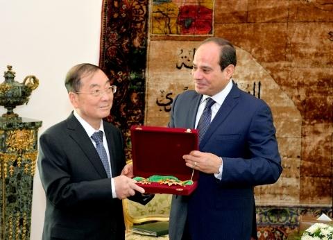 السيسي يستقبل سفير الصين في نهاية فترة عمله بالقاهرة