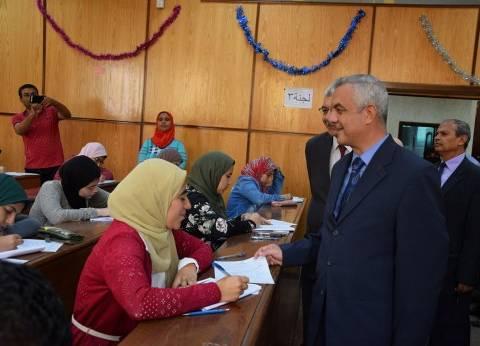 نواب رئيس جامعة المنوفية يتفقدون سير الامتحانات في عدد من الكليات