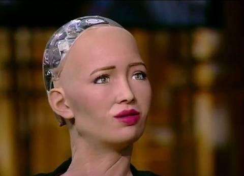 8 تصريحات للإنسان الآلي صوفيا في أول لقاء لها مع أسامة كمال