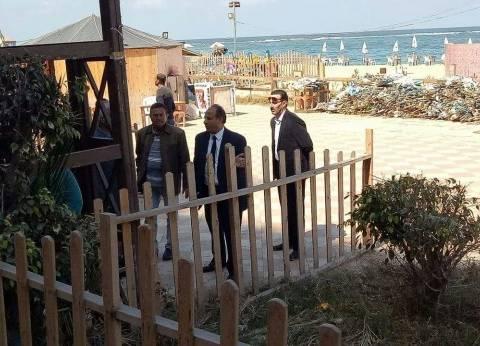 محافظ الإسكندرية يتفقد الشواطئ بالتزامن مع عيد الربيع