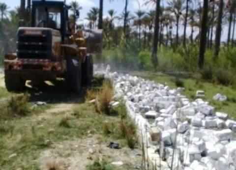 بالصور| إزالة التعديات على الأراضي الزراعية بدمياط